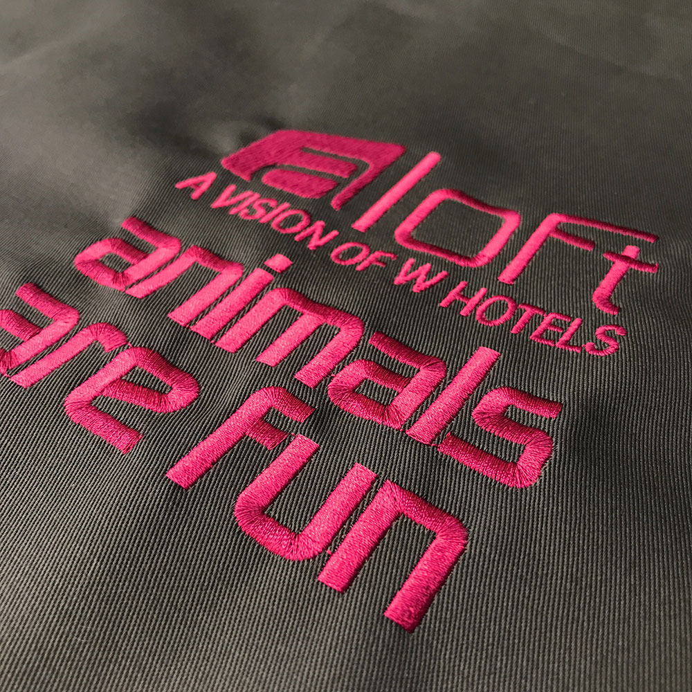 Aloft Hotel Embroidery for Eloise Pet Accessories
