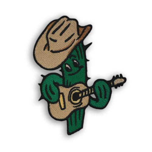Cowboy Cactus Iron-On Embroidered Patch