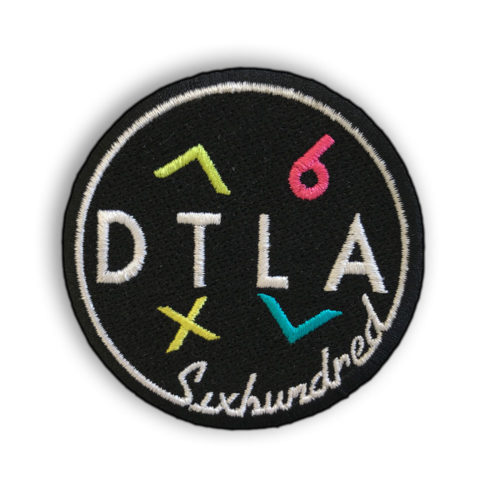 DTLA Sixhundred Iron-On Embroidered Patch