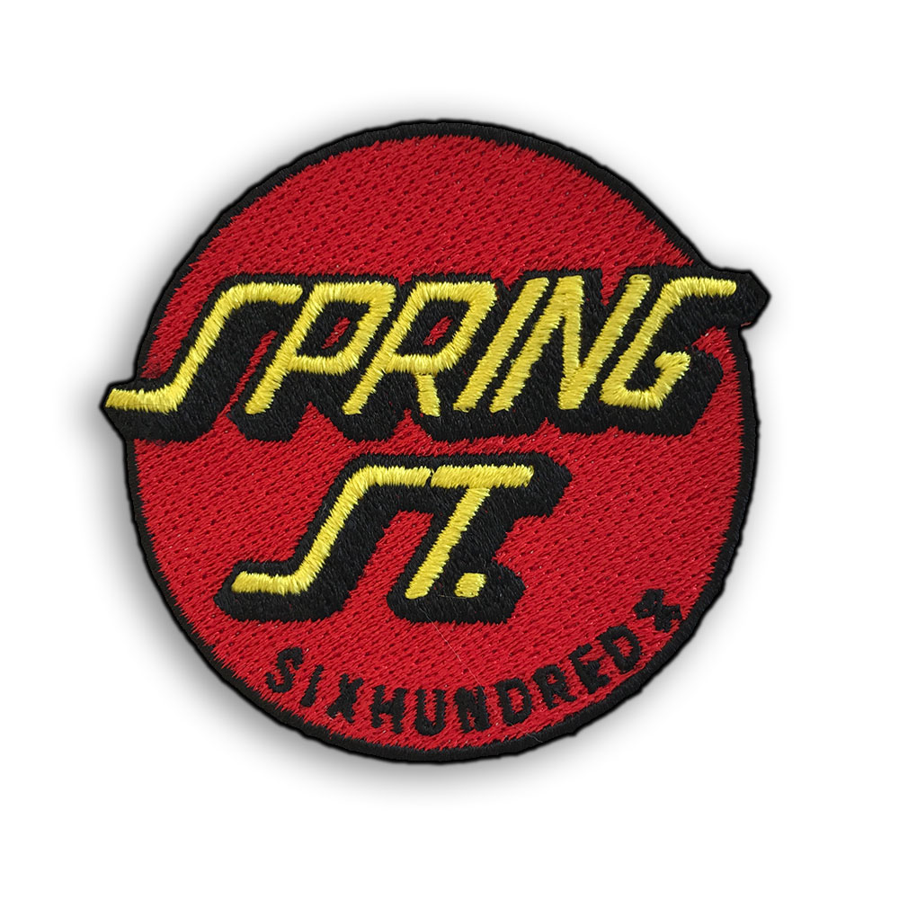 Spring St. Sixhundred Iron-On Embroidered Patch